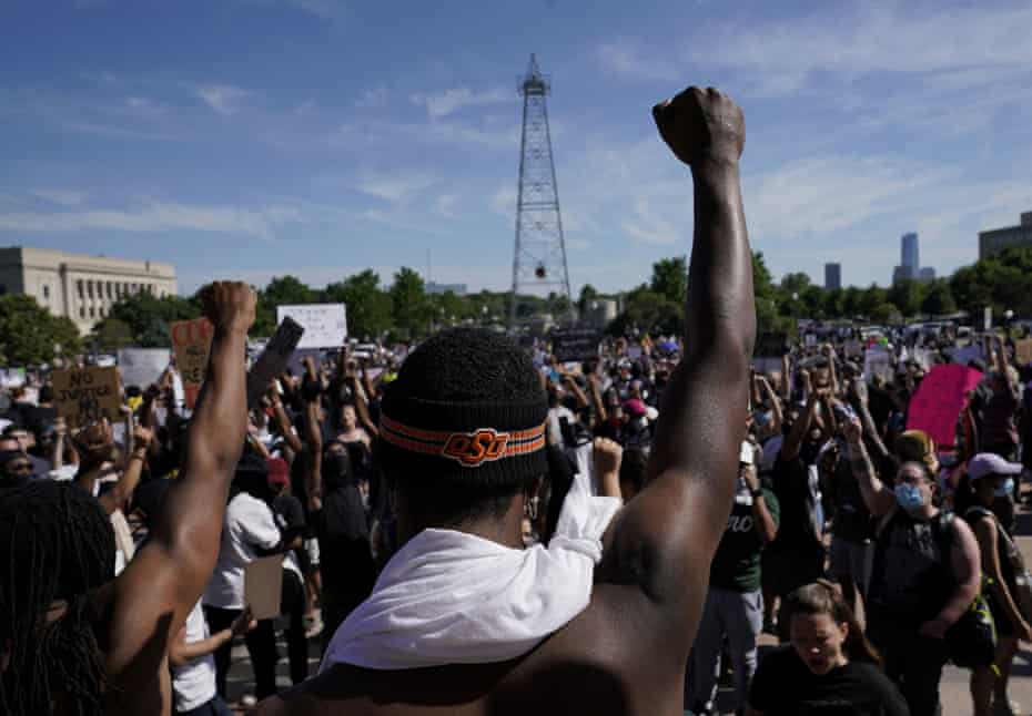 Black Lives Matter protest in Oklahoma City after the death of George Floyd in May 2020.