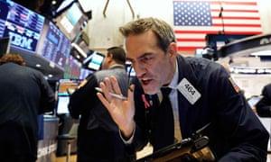 On the floor of the New York Stock Exchange last week.