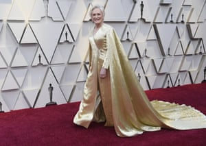 Dressing as an Oscars to the Oscars can only really be a trick that works for Hollywood royalty - and that is exactly what Glenn Close is. The cape detailing adds a slight sci-fi element that adds to the statement. She could be a Queen of a Star Wars galaxy as yet undiscovered.