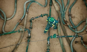 April, 2008 --- Hydraulic Fracturing operation in Eastern Colorado. --- Image by Gaylon Wampler/Corbis