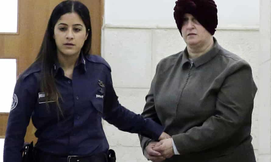 Malka Leifer being brought into a courtroom in Jerusalem in February 2018.