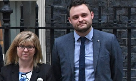 Maria Caulfield and Ben Bradley outside No 10 in January