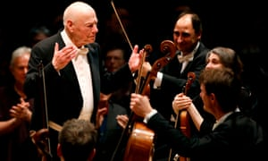 Among friends … Bernard Haitink with the London Symphony Orchestra.