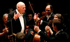 Bernard Haitink with members of the LSO this March