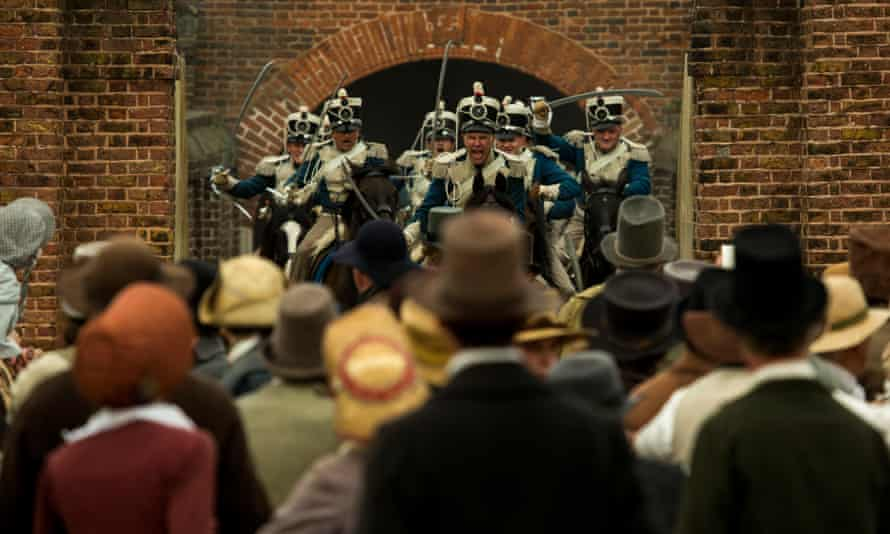 'Ye are many, they are few' ... a scene from the recently released film Peterloo.