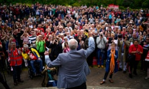 Jeremy Corbyn campaigning in the European elections in Bootle, May 2019