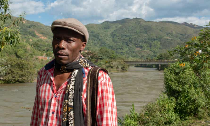 Hector Marino, a leader of the Afro-Colombian community in Suárez, regularly receives death threats. One of his closest friends was kidnapped and murdered in July.