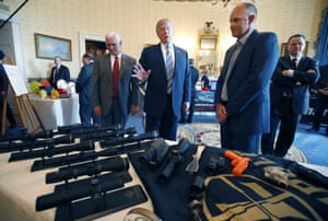 Seeing the sights: Trump looks at Leupold and Stevens scopes, made in Oregon