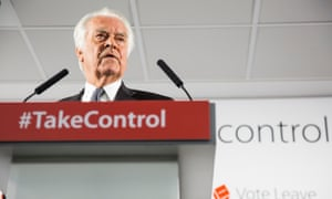 Lord Owen giving a Vote Leave speech today.