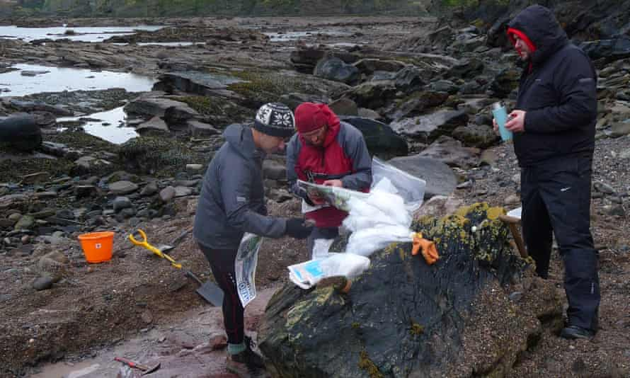 Fossil collecting in Scotland
