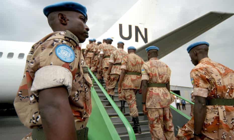 Rwandan soldiers serving as as UN peacekeepers in 2005.