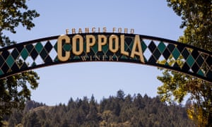 The Francis Ford Coppola Winery near Geyserville, California.