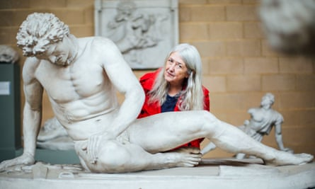 Mary Beard in the BBC2 TV series Shock of the Nude.