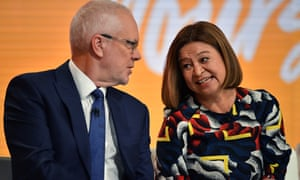 Michelle Guthrie and Justin Milne