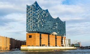 The Elbphilharmonie concert hall in Hamburg, Germany.