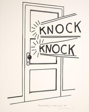 Roy Lichtenstein, Knock, Knock Poster, 1975
