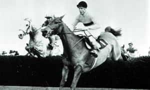Stan Mellor and Stalbridge Colonist (left) catch Arkle at the final fence and go on to win the 1966 Hennessy Gold Cup