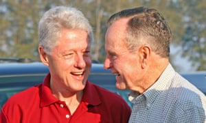 Bill Clinton and George HW Bush in 2005. 'Your success is now our country's success,' Bush wrote to his successor.