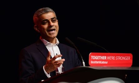 Sadiq Khan speaks at the Scottish Labour party conference in Perth at the weekend.