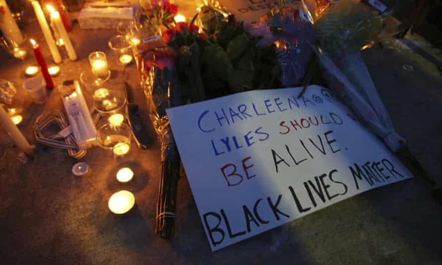 A vigil for Charleena Lyles, who was shot and killed Sunday.