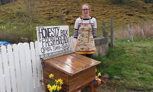 Chef Shona Jamieson runs an artisan bakery, and sells  butteries at her honesty box.