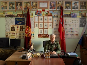 Yuri Budylev, chairman of the Office of the Council of Veterans of the Second World War, in Staraya Russa, Novgorod province, Russia.