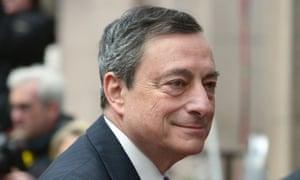 The European Central Bank president, Mario Draghi.