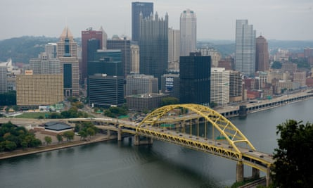 A view of downtown Pittsburgh, Pennsylvania, the City of Bridges, including the University of Pittsburgh Medical Center – a $13bn health system.