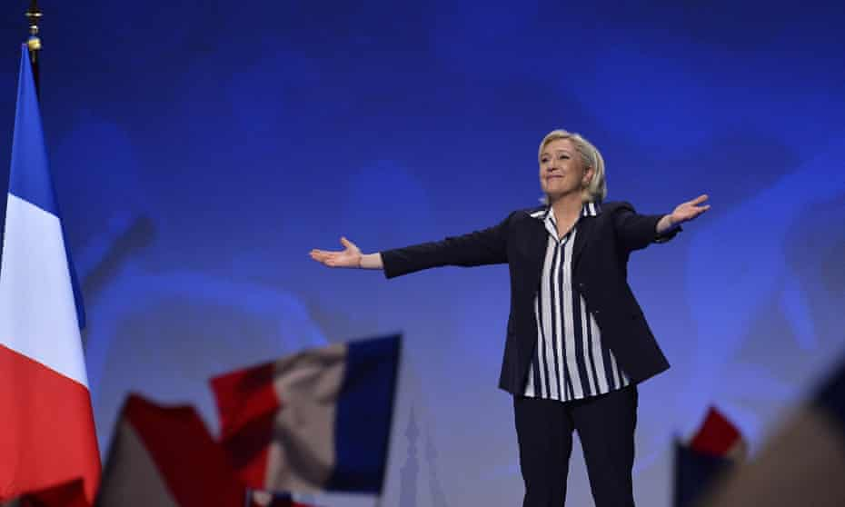 Le Pen said last month: 'A new world has emerged. It's the world of Putin, it's the world of Trump. I share with these great nations a vision of cooperation, not of submission.'