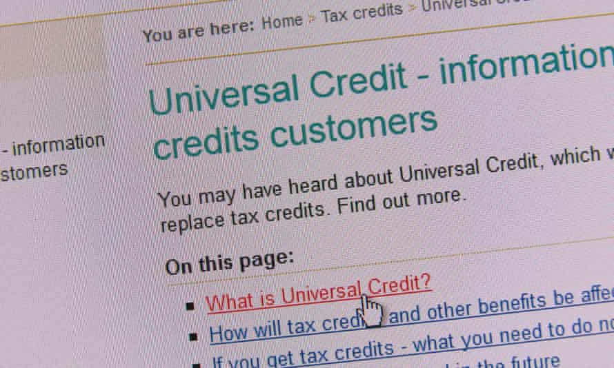 Screenshot of a HMRC website page for universal credit