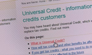 Government information on universal credit.