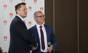 Tesla Elon Musk South Australia Jay Weatherill lithium-ion battery