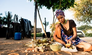 The Ju/'hoansi, who once depended solely on hunting and gathering, now rely ever more on subsistence farming.