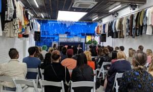 A Fashion Revolution event at the 50m store near Victoria in London.