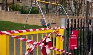 A closed play park in Edinburgh , Scotland.