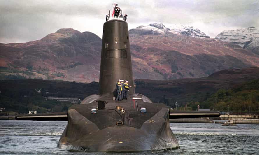 Trident-class nuclear submarine Vanguard.