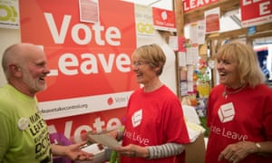 Vote Leave supporters at the Royal Cornwall Show.