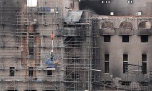 Demolition work has begun at the Glasgow School of Art building.