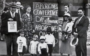 A scene from the Day of Mourning protest in Sydney on 26 January 1938