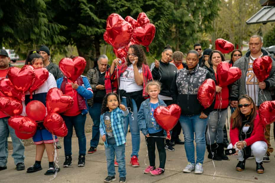 Family and friends of Alyssa McLemore, and members of the Missing and Murdered Indigenous Women movement gathered at Morrill Meadows Park in Kent, Washington.