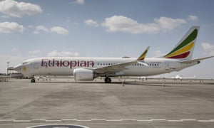 An Ethiopian Airlines Boeing 737 Max 8.