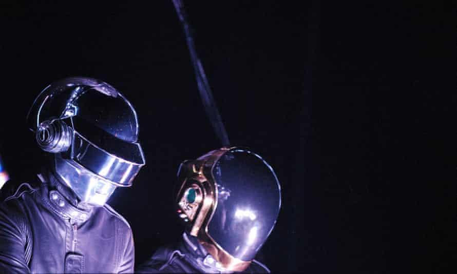 Full metal racket … Daft Punk performing live.