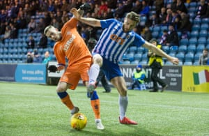 The recent Kilmarnock v Rangers game at Rugby Park, one of three Scottish top-flight teams with a synthetic surface.