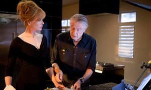 Nicole Kidman and Joel Schumacher on the set of Trespass, 2011