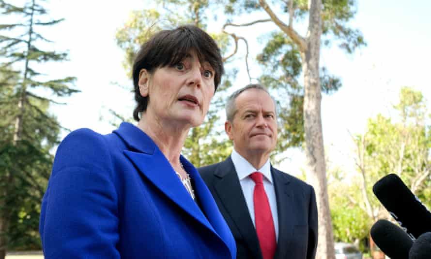 Labor's new candidate for the seat of Higgins, barrister Fiona McLeod, with Bill Shorten in Melbourne