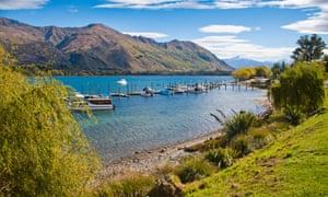Lake Wanaka harbour on New Zealand's South Island.