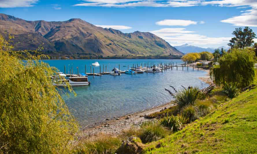 Lake Wanaka harbour on New Zealand's South Island.
