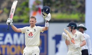 Joe Root brings up his double century, making him the first England cricketer to record such a feat in Sri Lanka.