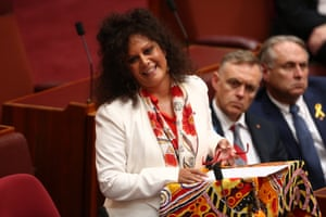 NT Labor senator Malarndirri McCarthy delivers her first speech in the Senate chamber