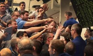 Traders react to market volatility